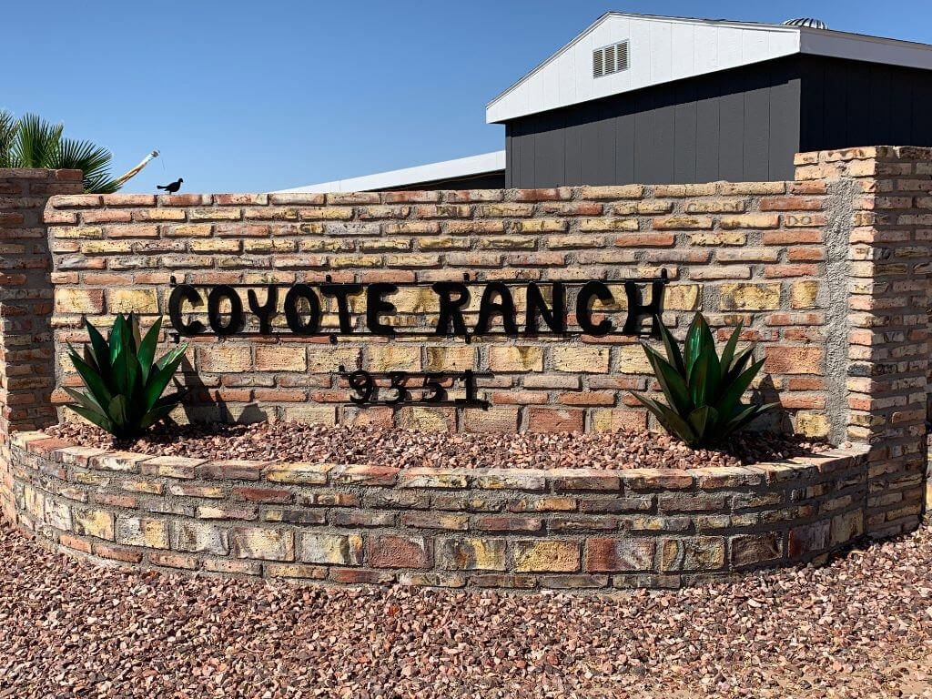 Coyote Ranch - entrance sign